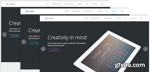 JoomlArt - JA Nuevo v1.0.7 - Responsive Joomla Template For App and Services Websites