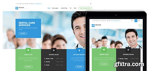 JoomlArt - JA Medicare v1.2.0 - Responsive Joomla Template For Hospitals and Clinics