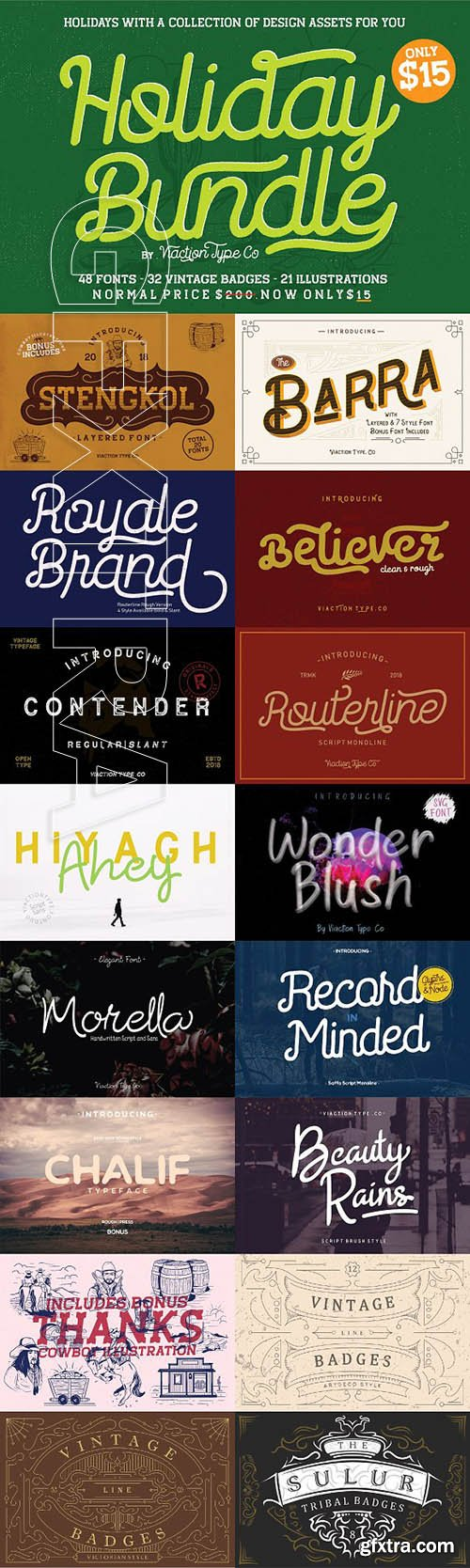 CreativeMarket - Holiday Bundle All Product 3230000