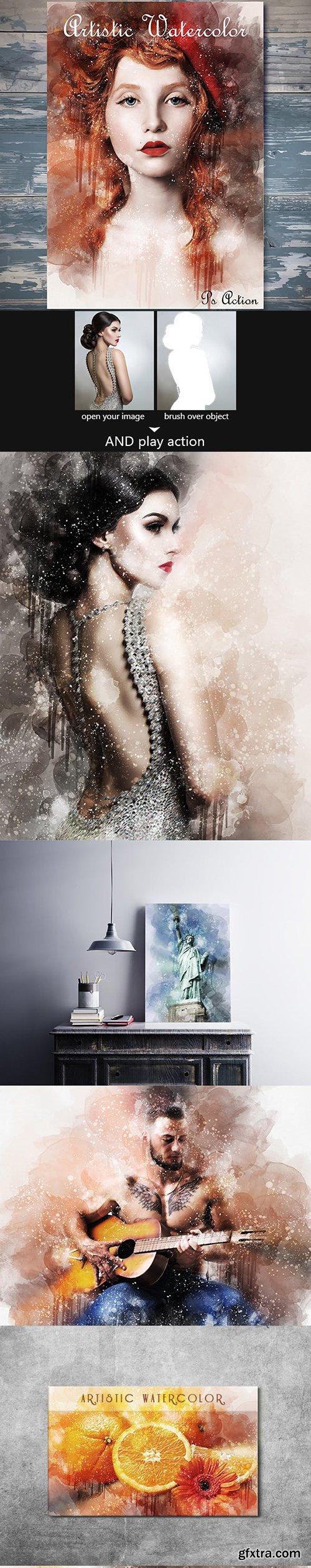 Graphicriver - Artistic Watercolor Photoshop Action 21411826