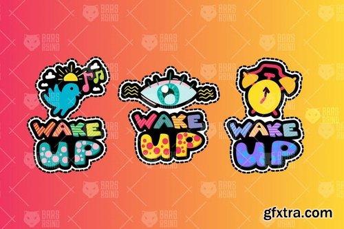 Awakening Good Morning Stickers