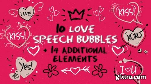 MA -  Love Speech Bubbles & Elements After Effects Templates 156570