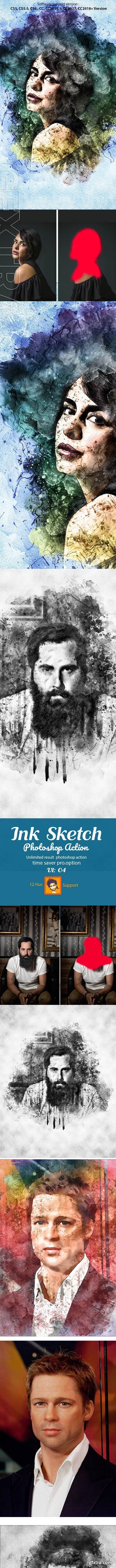 GraphicRiver - Ink Sketch Photoshop Action 22864165