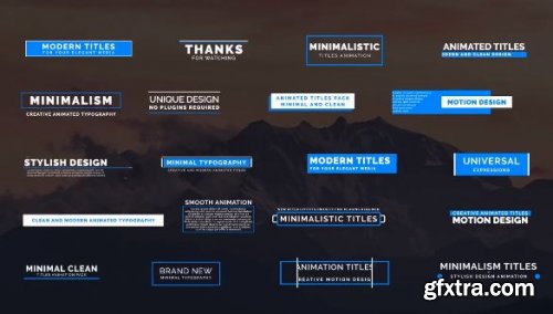 20 Animated Titles IV - After Effects 148778