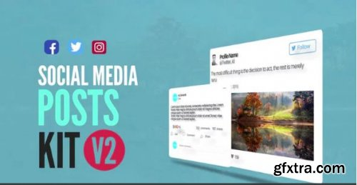 Social Media Animated Post Kit V2 - After Effects 149976