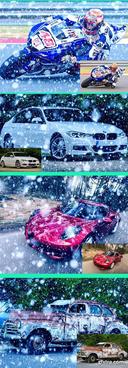 Graphicriver Amazing 15 Snow Photoshop Action Vol 1 22998824