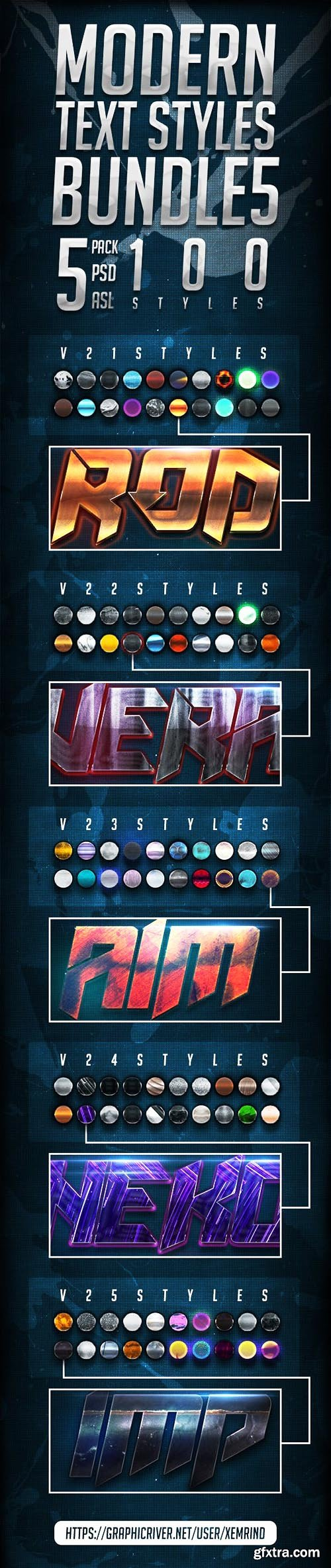 Graphicriver Modern Text Styles Bundle 5 22995173