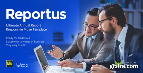 ThemeForest - Reportus v1.1 - Annual Report Responsive Muse Template - 19286602