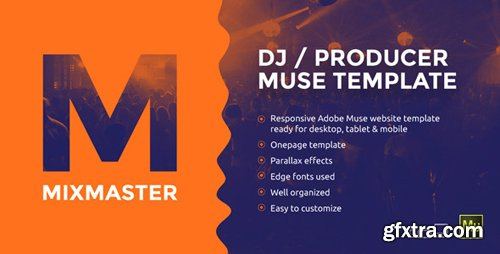 ThemeForest - MixMaster v1.0 - DJ / Producer Website Muse Template - 11847390