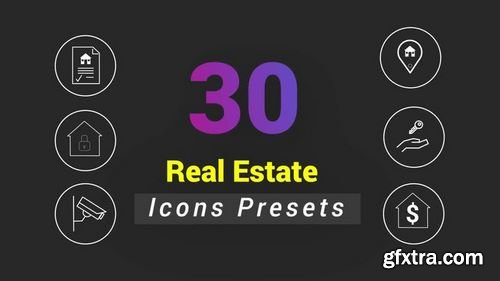 MotionArray - 30 Animated Real Estate Icons 156679