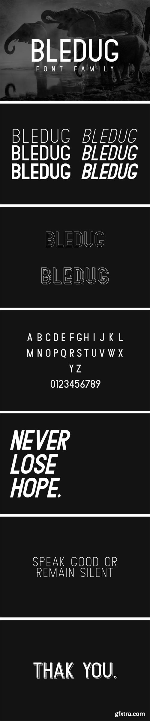 CM - Bledug Font Family 3015502