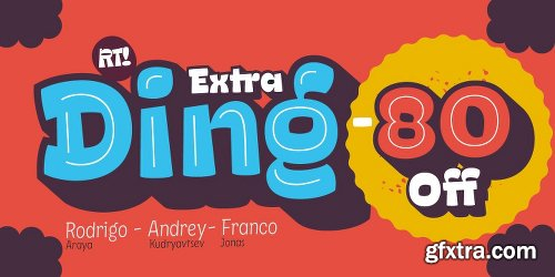 Ding Extra Font Family - 6 Fonts