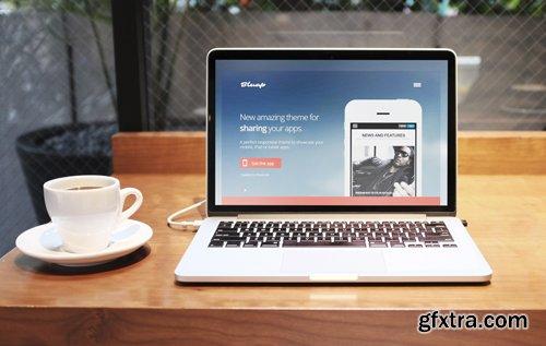 GavickPro - Bluap v3.23 - Mobile Application Joomla Template
