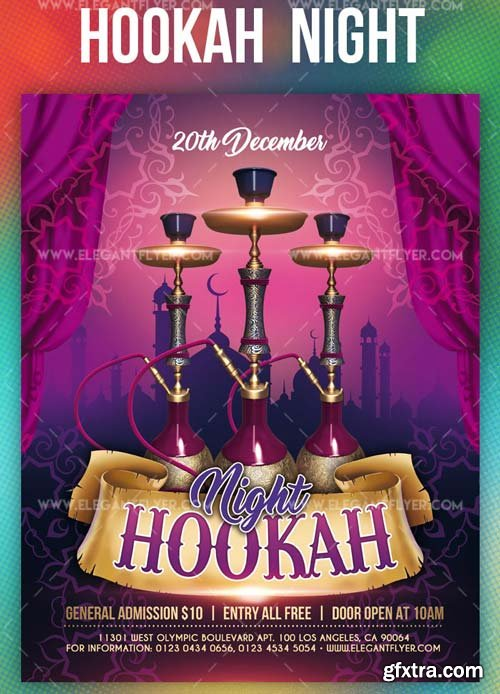 Hookah Night V1 2019 Flyer PSD Template