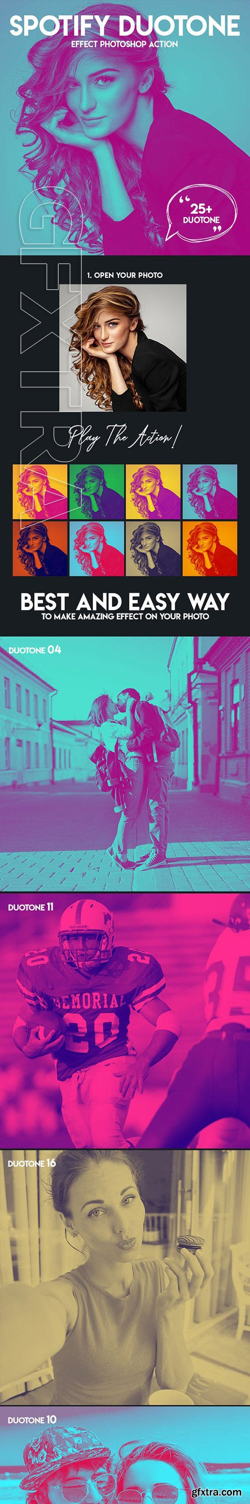 GraphicRiver - Spotify Duotone Effect Photoshop Action 23016022