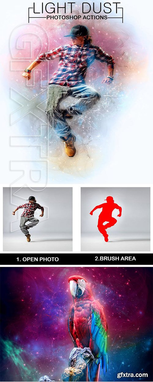 GraphicRiver - Light Dust Photoshop Actions 23099876