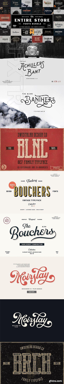CreativeMarket - Entire Store Bundle - 105+ Fonts 3249915