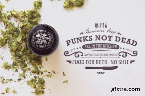 Dry Hop Beer Cap Logo