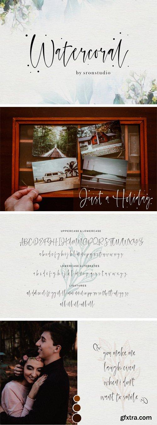 CM - Watercoral // Natural Script Font 3333319