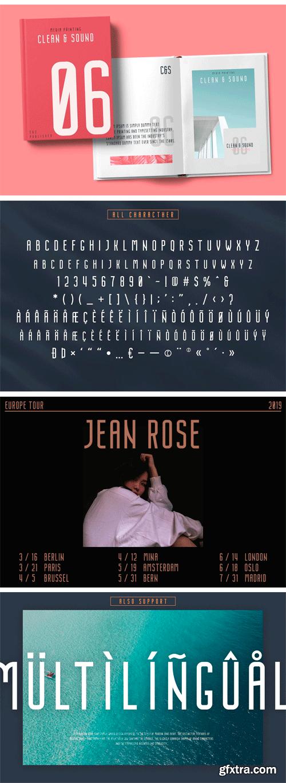 CM - Nordin - Condensed Sans Serif Font 3343699