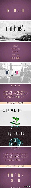 CM - Bohem - Display Font | 2 Styles 3340306