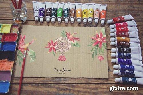 Paperboard Paint Scene Desk