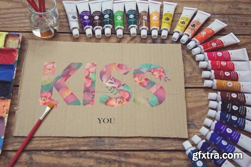 Paperboard Paint Scene