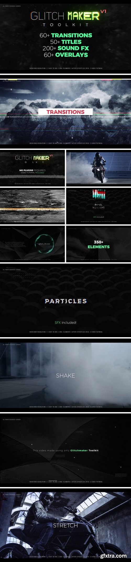 MotionArray - GlitchMaker Toolkit: 350+ Elements After Effects Templates 66116