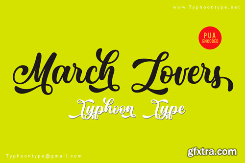 CM - March Lovers Font 3347578