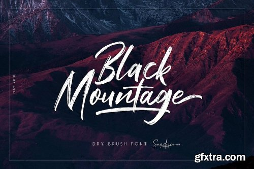 CreativeMarket Black Mountage - Brush Font 2573418