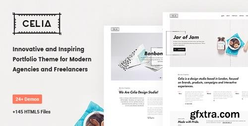 ThemeForest - Celia v1.0 - Innovative and Inspiring Portfolio HTML5 Template for Modern Agencies and Freelancers - 20304763