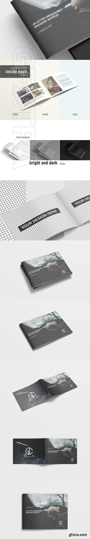 CreativeMarket - US Letter Landscape Brochure Mockup 3336390