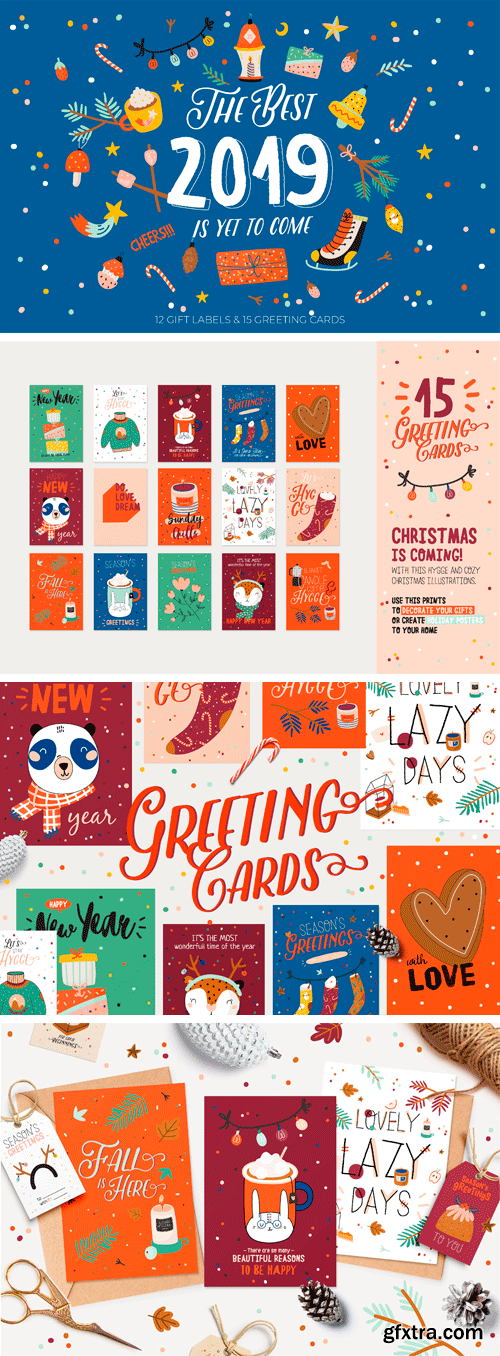 CM - Cute Christmas Cards & Gift Labels 3136152