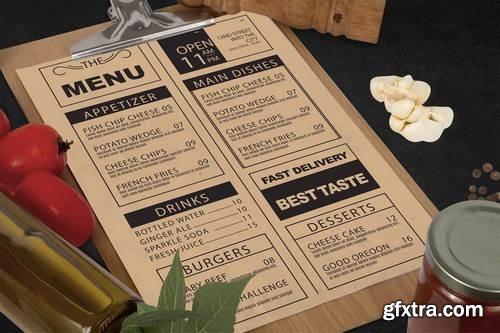 Vegetables Restaurant Menu Mock Up