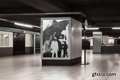 Flyer Poster Mockup Bundle - Advertising Outdoor