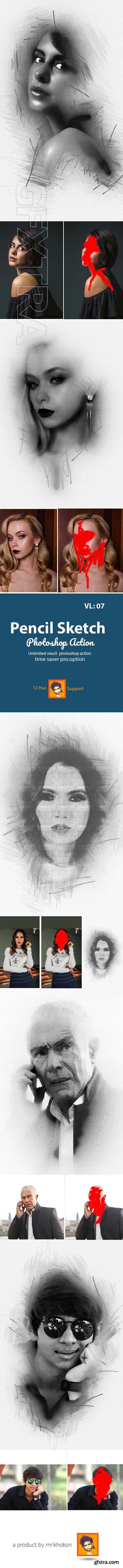 GraphicRiver - Pencil Sketch Photoshop Action 23048429