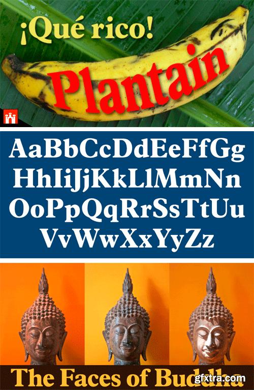 Plantain Font Family