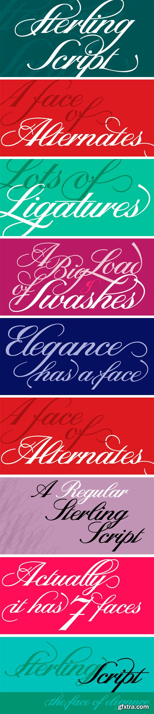 Sterling Script Font Family