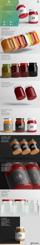 CreativeMarket - Jam Honey Jar LG Mock-Up #1 V2,0 3332012