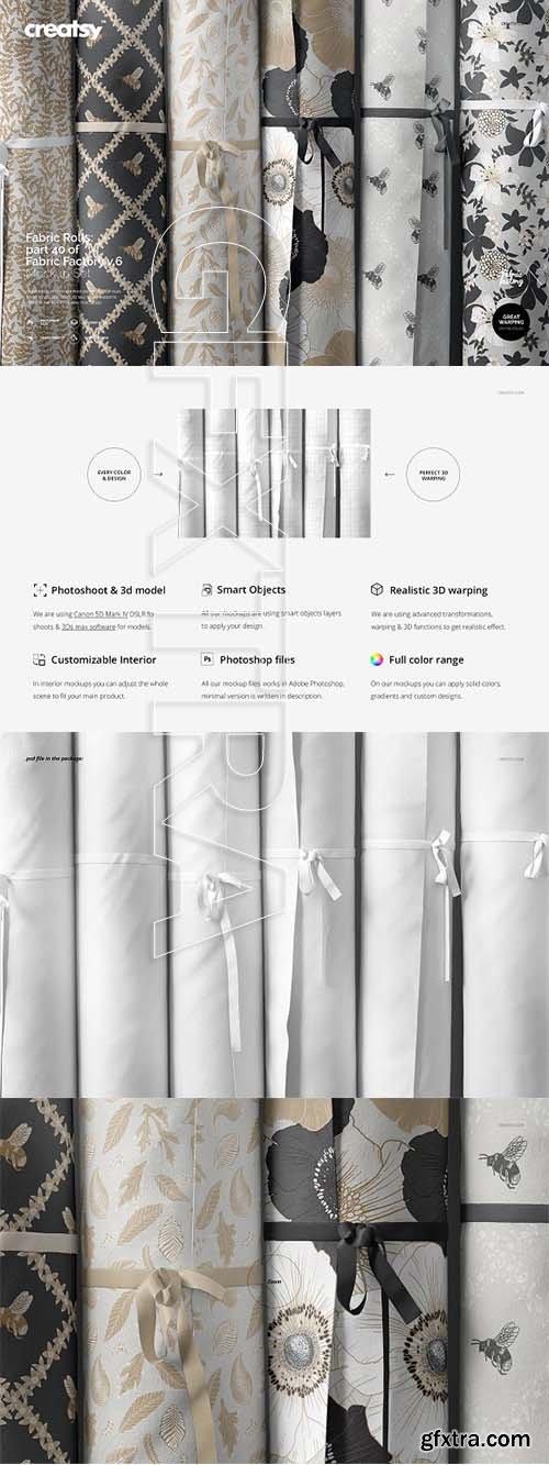CreativeMarket - Fabric Rolls Mockup 40 FF v 6 3328450