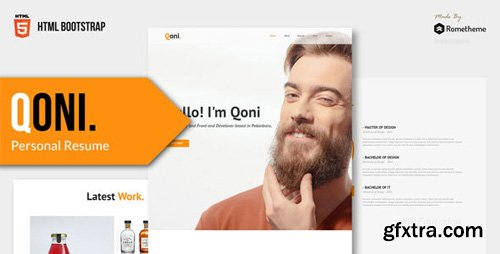 ThemeForest - QONI v1.0 - Personal Resume HTML Template - 23052367