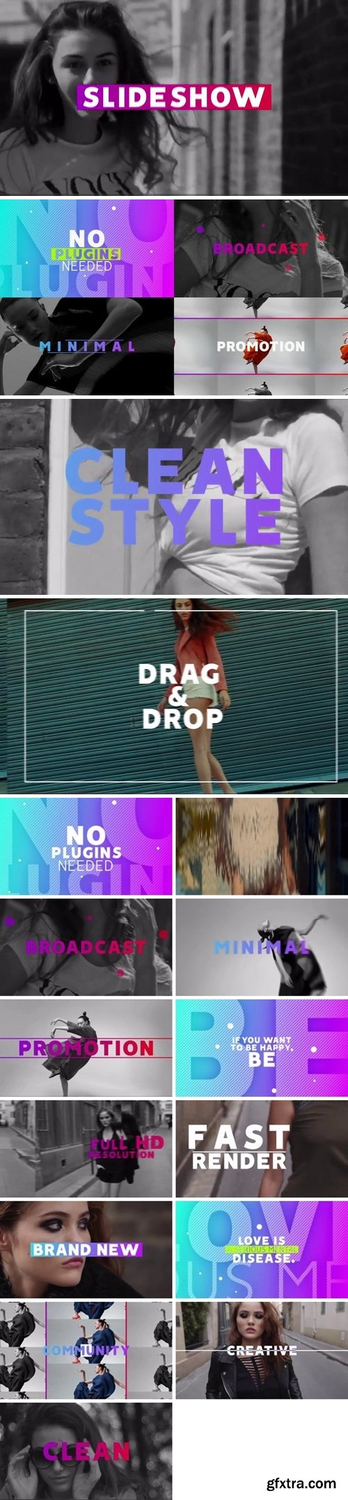 MotionArray - Clean Slideshow After Effects Templates 160064
