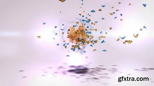 MotionArray - Monarch Butterflies Logo After Effects Templates 160070