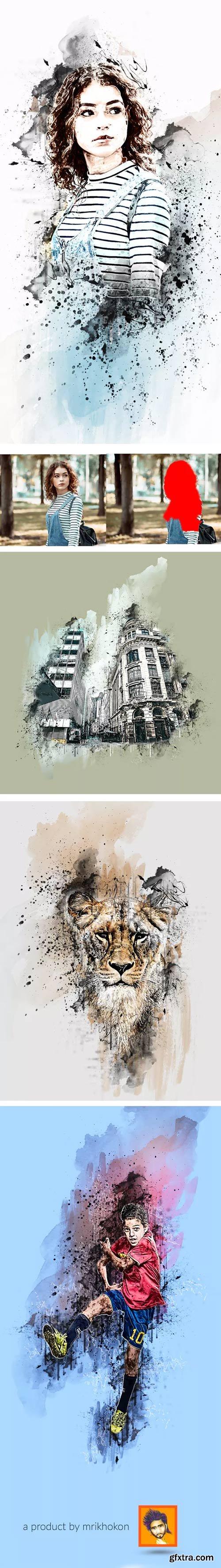 GraphicRiver - Ink Manipulation Photoshop Action - 23025536