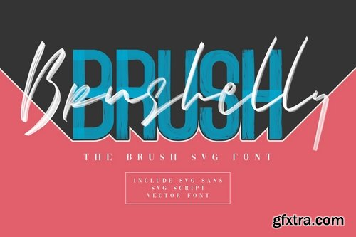 CM - Brushelly SVG Brush Font 3356240