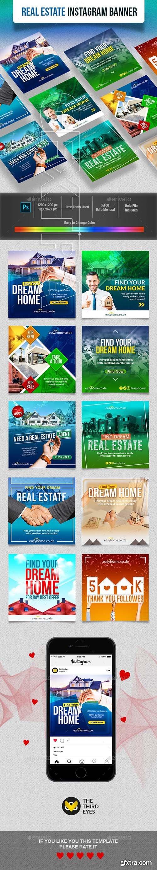 GraphicRiver - Real Estate Instagram Banner 23102118