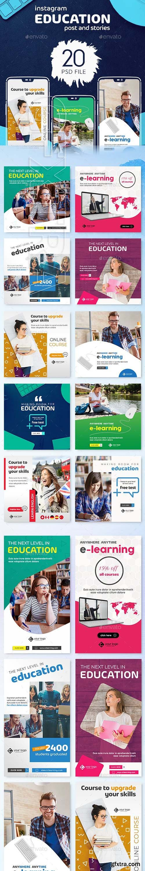GraphicRiver - Education Instagram Post and Stories 23102063