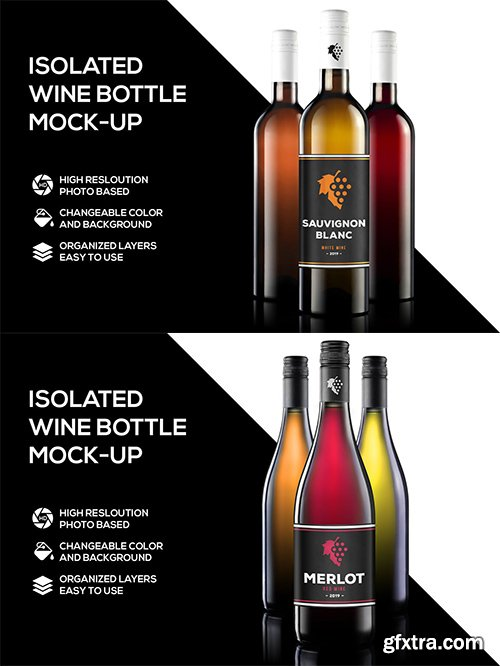 2 Wine Mockups