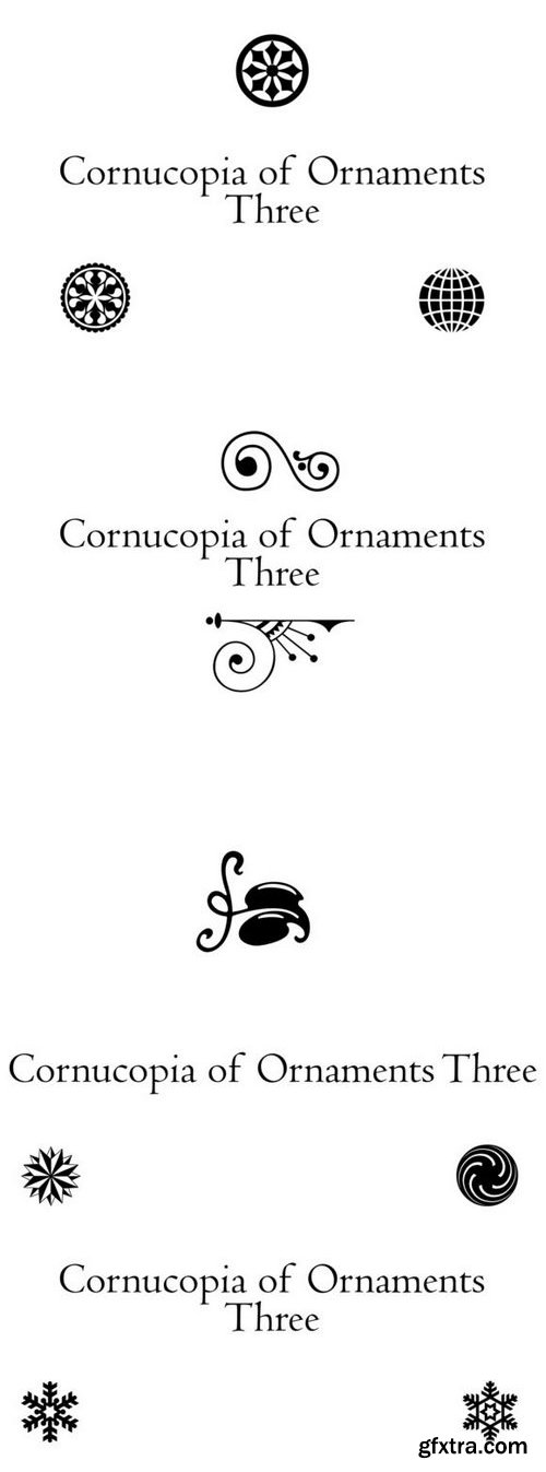 Fontbundles - Cornucopia of Ornaments Three 189832