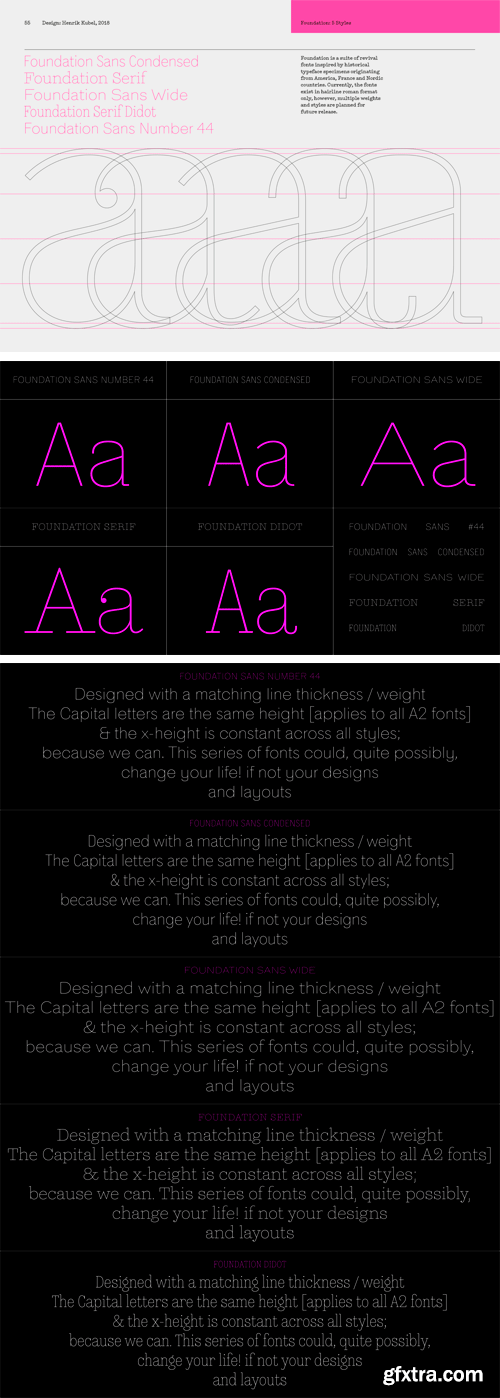 A2 Foundation Font Family